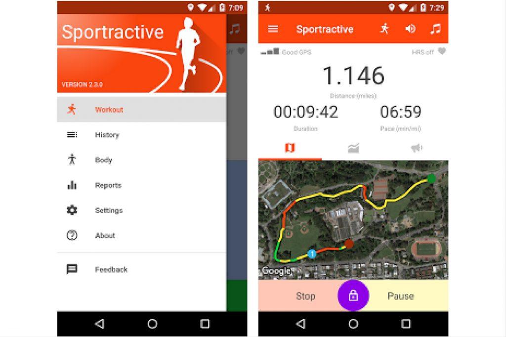 Sportractive app gatuite per nordic walking